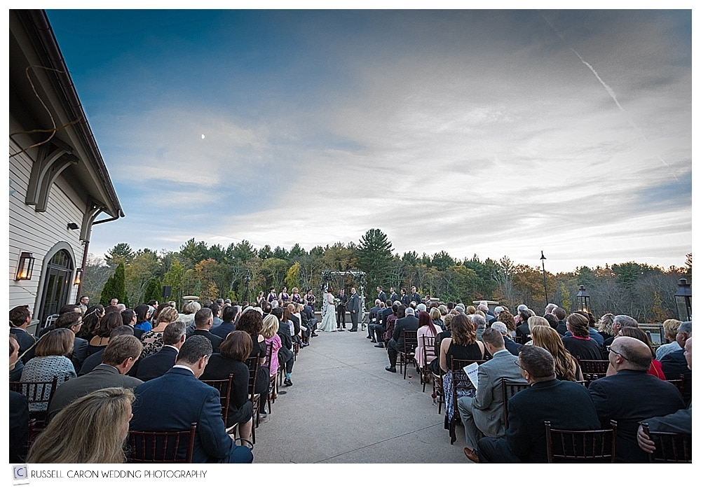 Outdoor wedding ceremony at LaBelle Winery Amherst New Hampshire