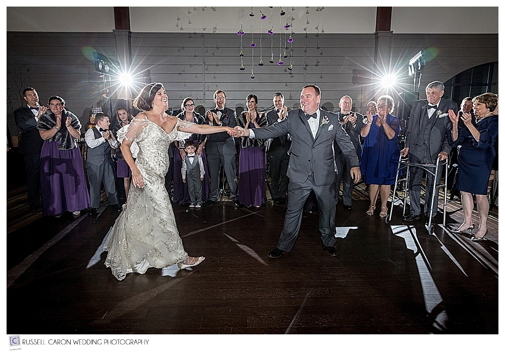 bride and groom dancing during their LaBelle Winery wedding reception