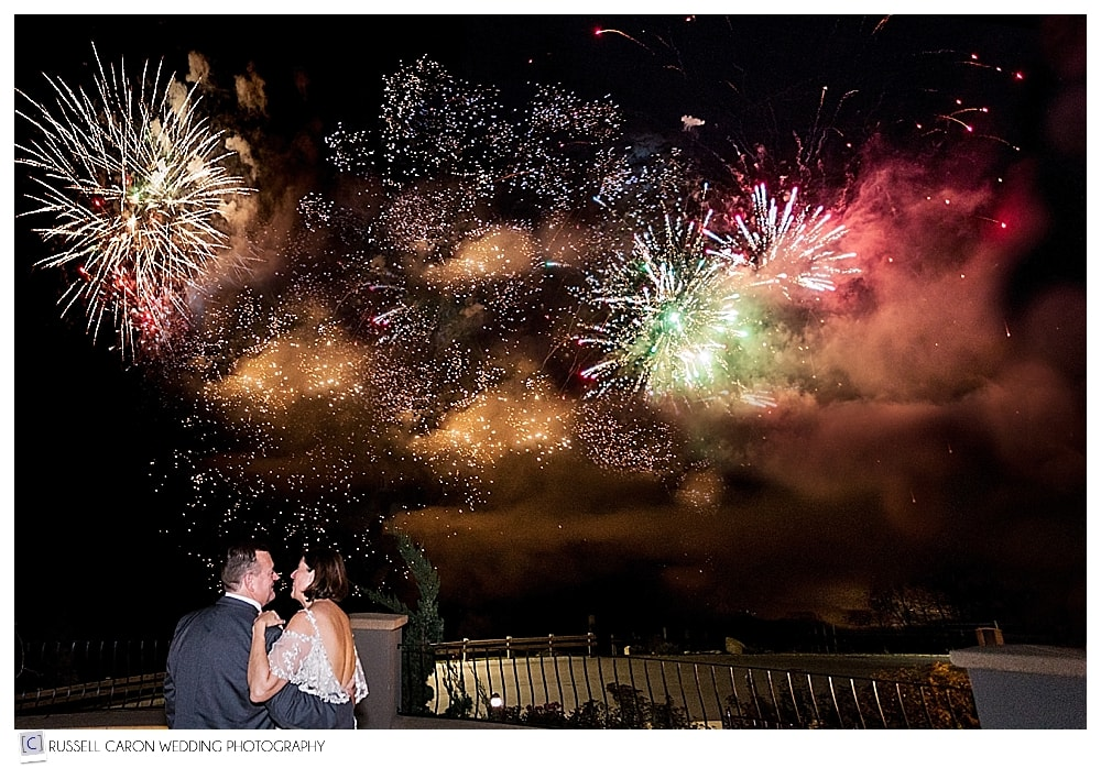 Fireworks at LaBelle Winery Wedding reception