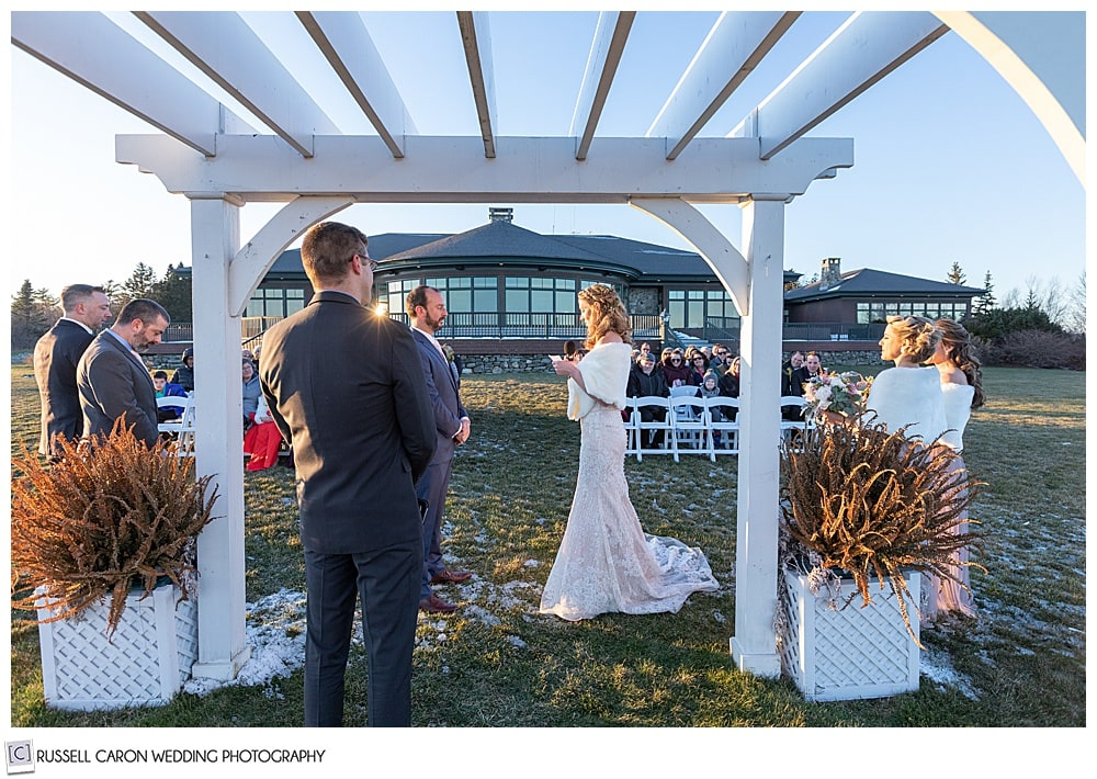midcoast maine wedding ceremony in north port maine