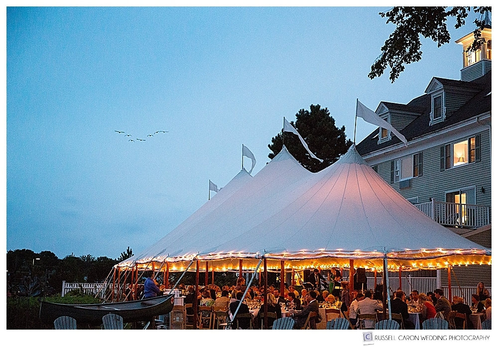 Tented Wedding at the Breakwater Inn, Kennebunkport Maine