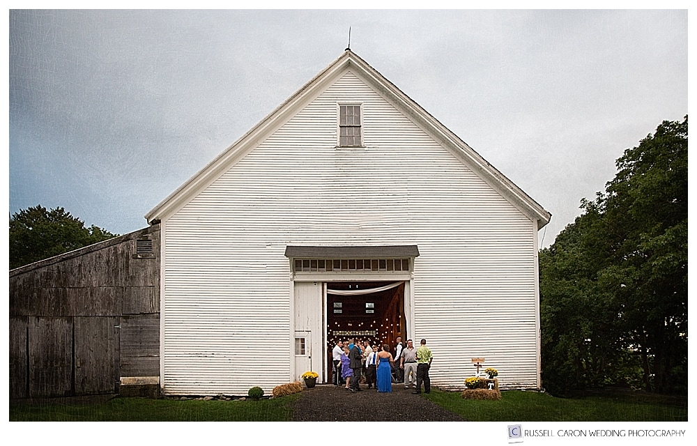 Wedding reception at Wolfe's Neck Farm, Freeport Maine