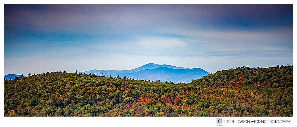 Photo of the mountains from Granite Ridge Estate and Barn in Norway, Maine.