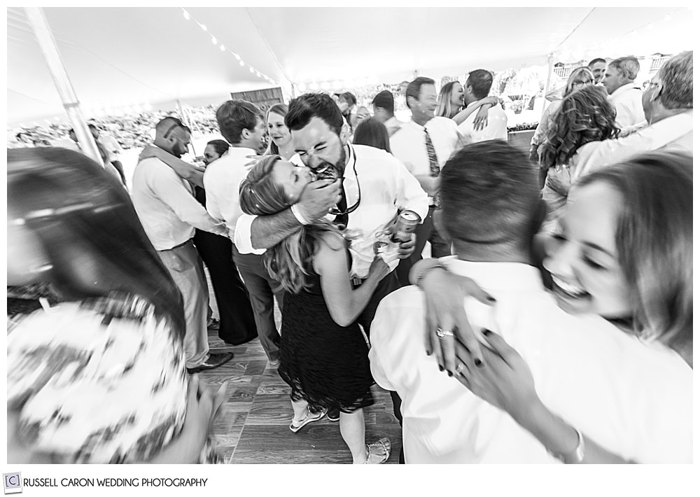 black and whit ephot of people dancing