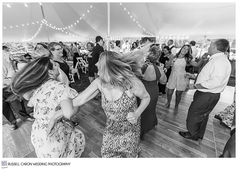 black and white photo of women dancing