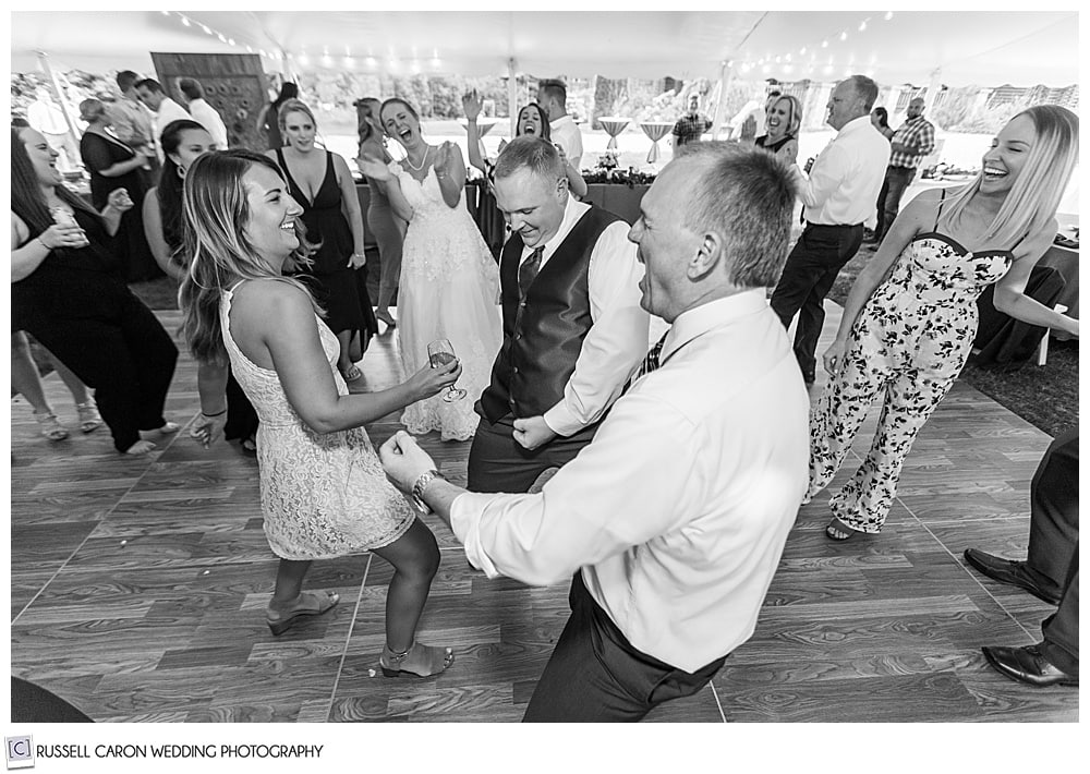 black and white photo of people dancing