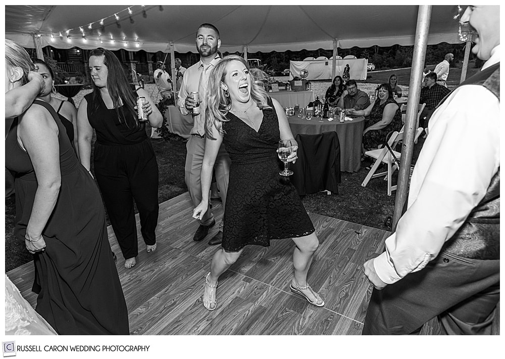 black and white photo of woman dancing