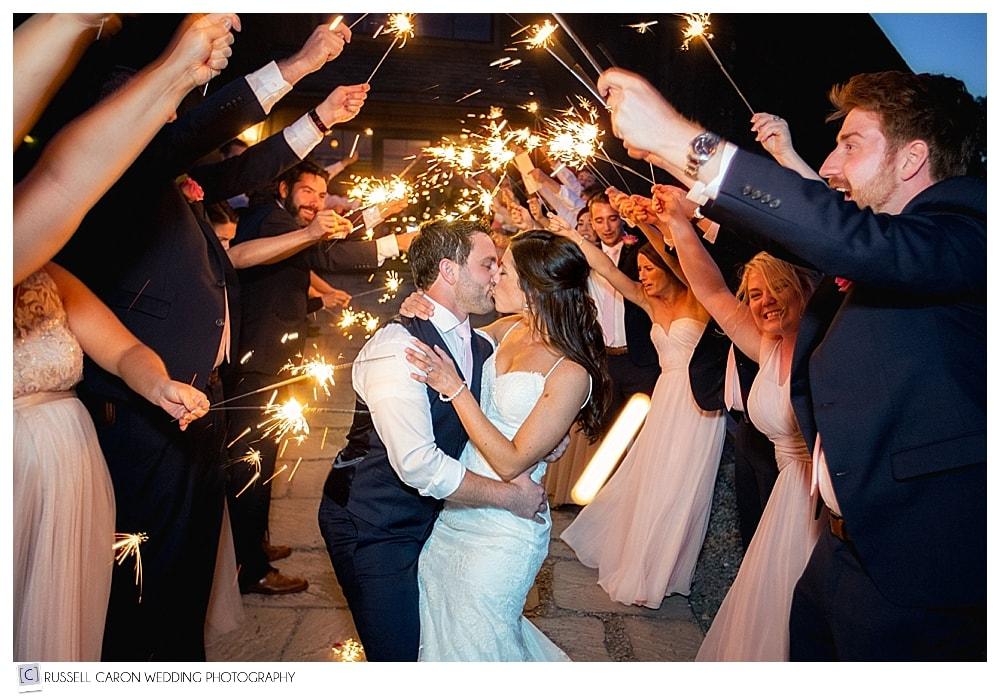 bride-and-groom-during-sparkler-exit