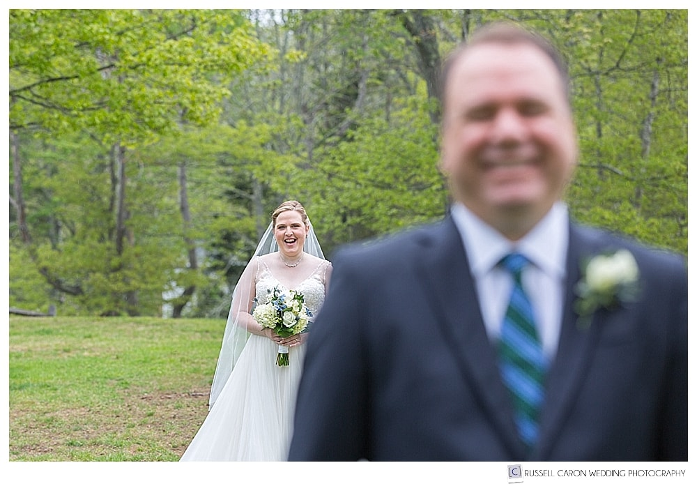 late spring boothbay harbor wedding day first look