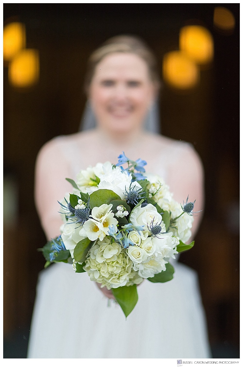 spring bridal bouquet by Boothbay Harbor Region Greenhouses