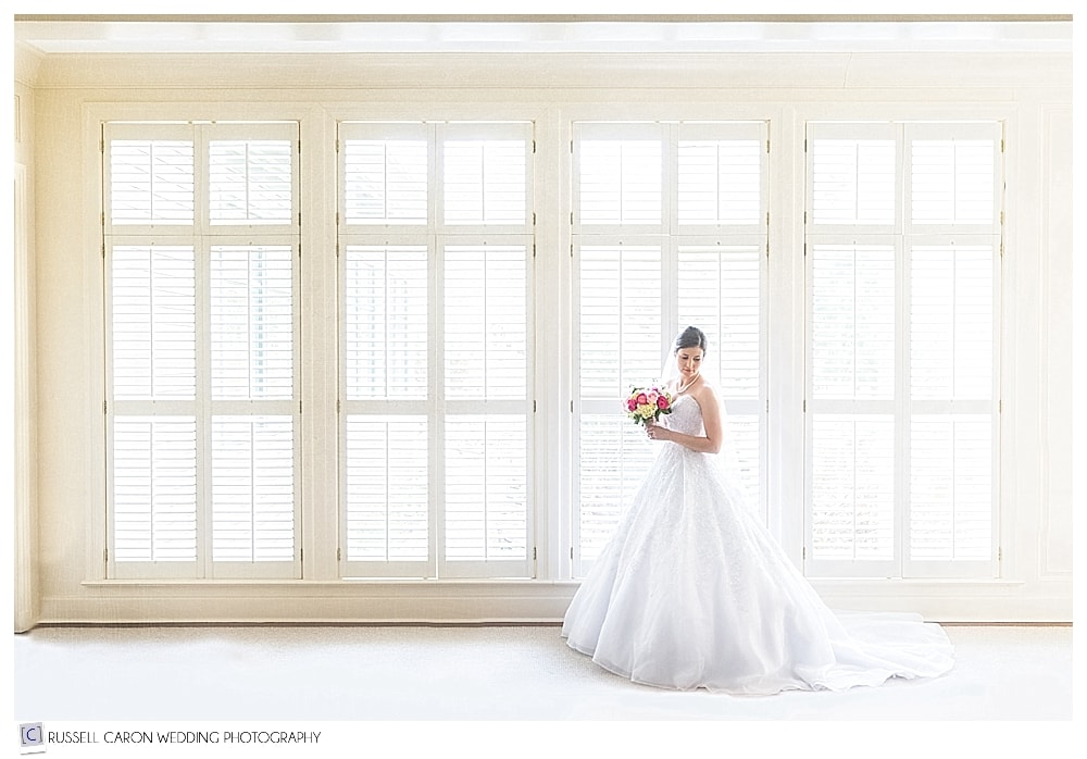 Stunning bridal portrait at beautiful Point Lookout wedding