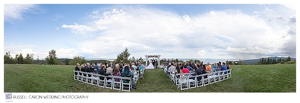 Beautiful Point Lookout wedding, Northport, Maine