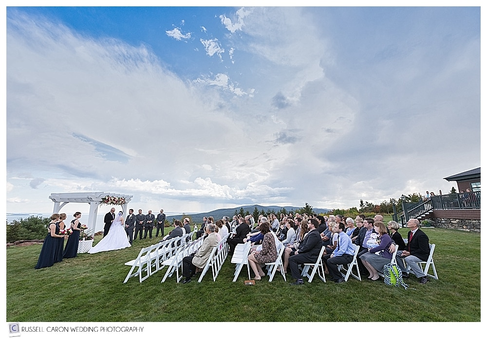 Beautiful Point Lookout wedding ceremony, Northport, Maine