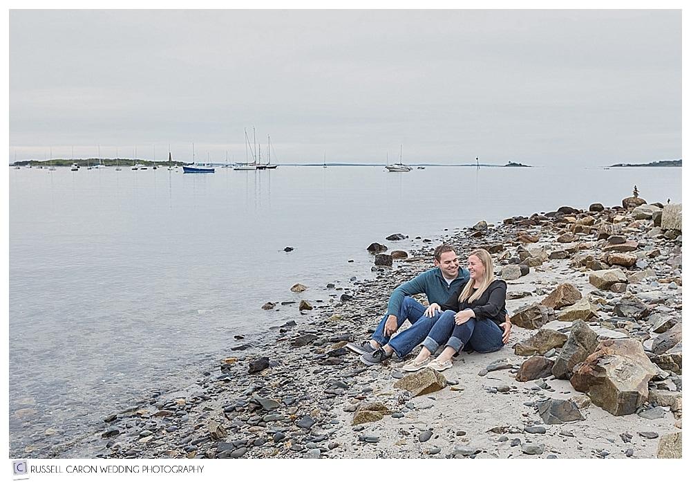 Biddeford Pool Beach Engagement Maine Engagement Photographers