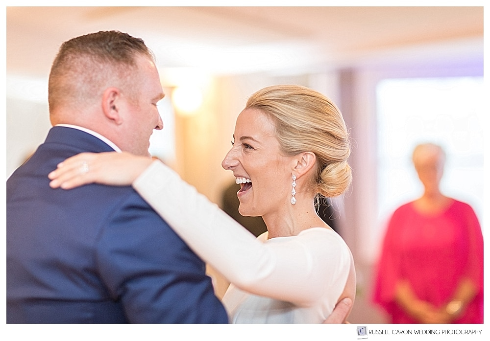 bride smiling during first dance