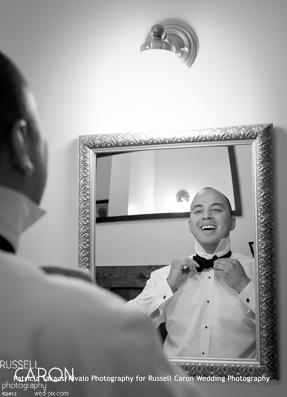 Groom getting ready for a French's Point wedding