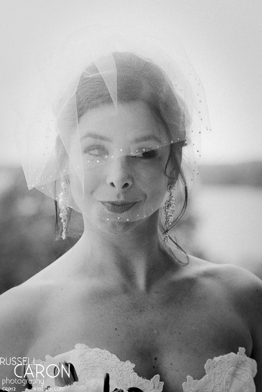 Bride at her wedding day first look