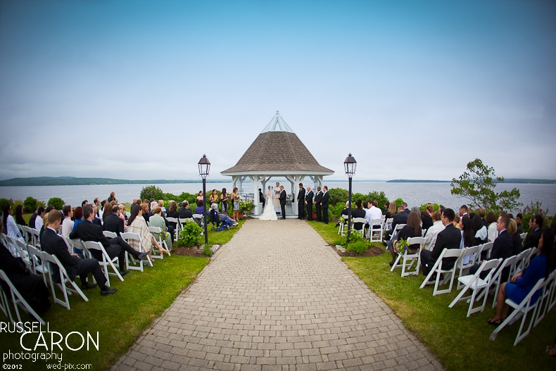 A view of a French's Point wedding, Stockton Springs, Maine