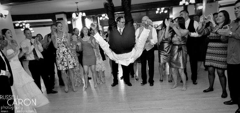 Dancing fun at a wedding reception