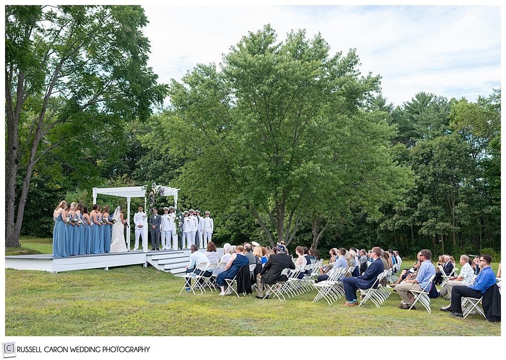 Dresden Maine wedding ceremony