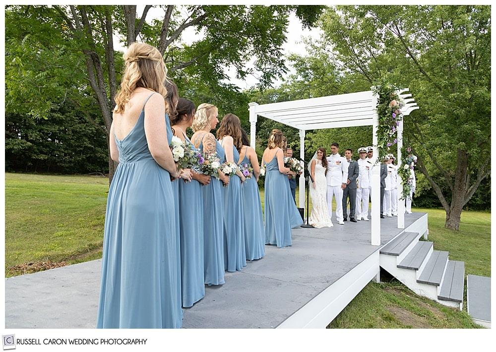 backyard Dresden Maine wedding ceremony