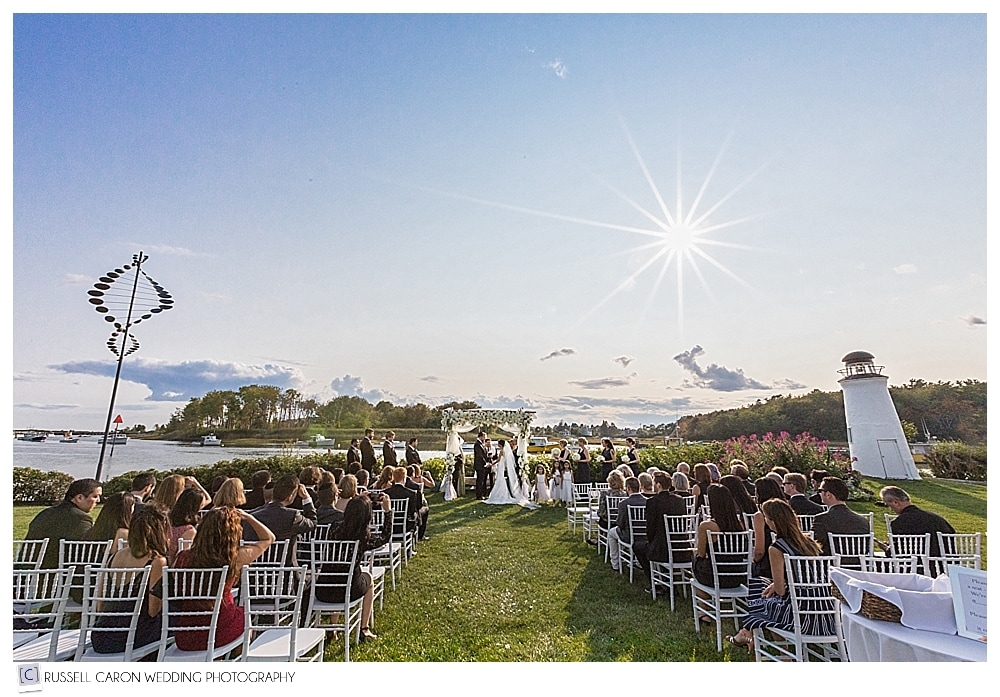 Outdoor wedding ceremony at the Nonantum Resort, Kennebunkport, Maine
