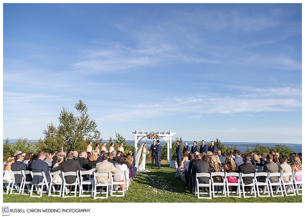 outdoor ceremony at an elegant point lookout wedding
