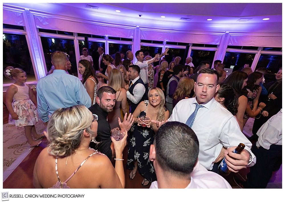 dancing fun at Point Lookout Summit wedding reception