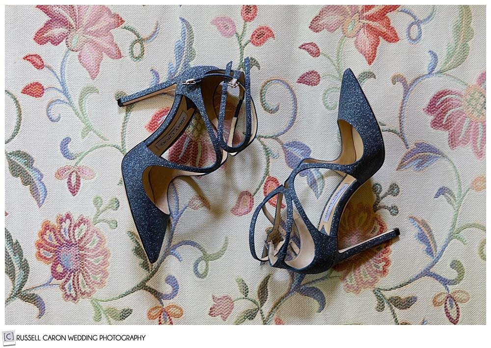 beautiful blue wedding shoes