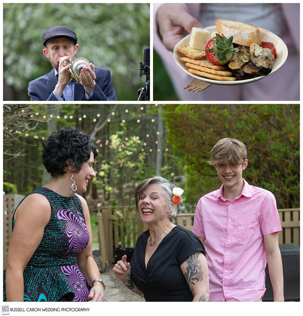 montage of pre-wedding cocktail hour