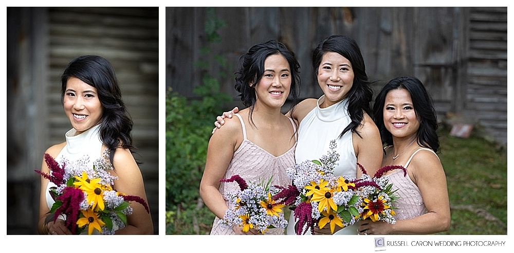 Portraits of bride and her sisters
