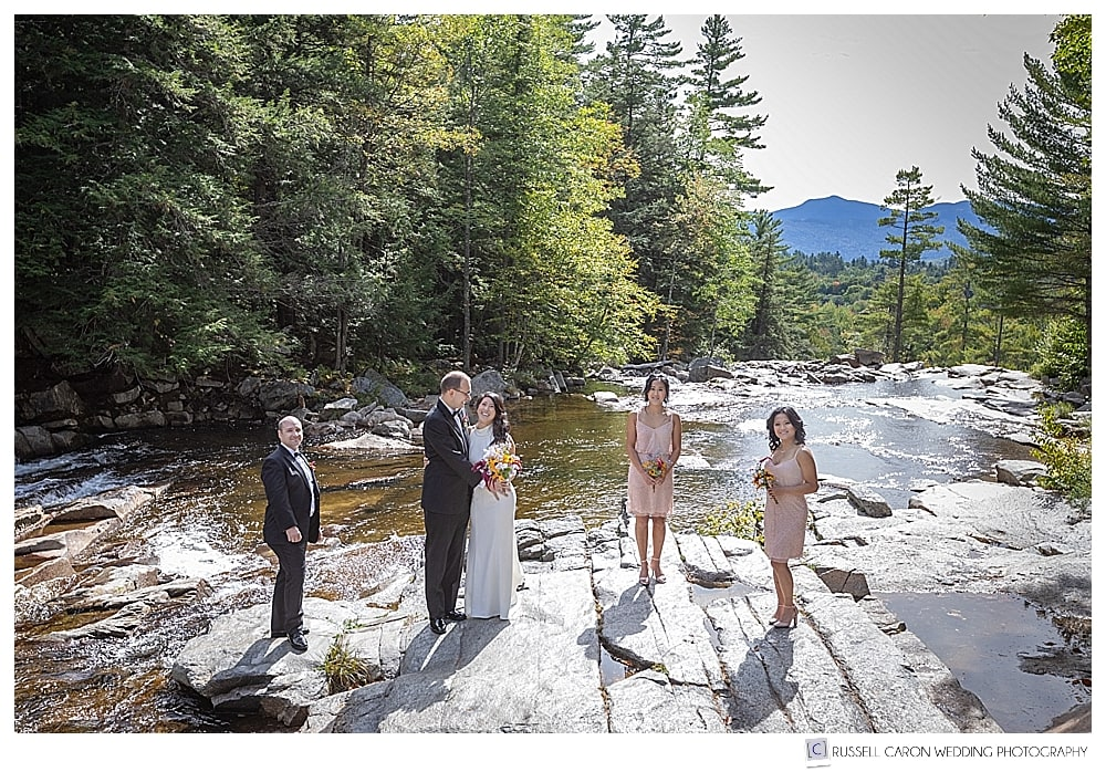 Bridal party at Jackson Falls, Jackson, NH
