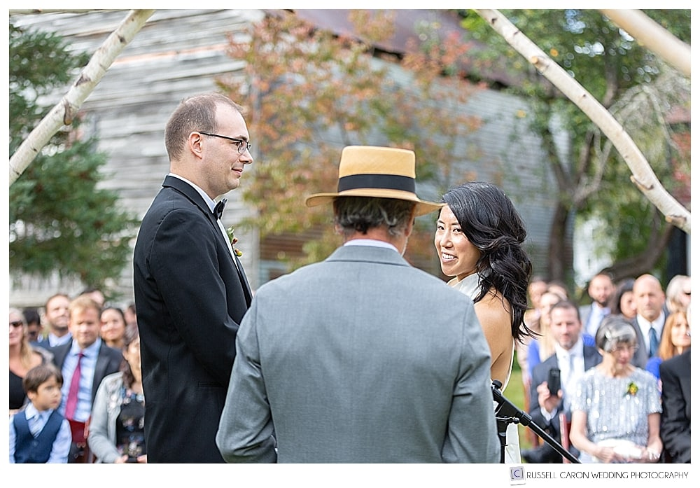 Outdoor Jackson New Hampshire wedding at the Thompson House Eatery