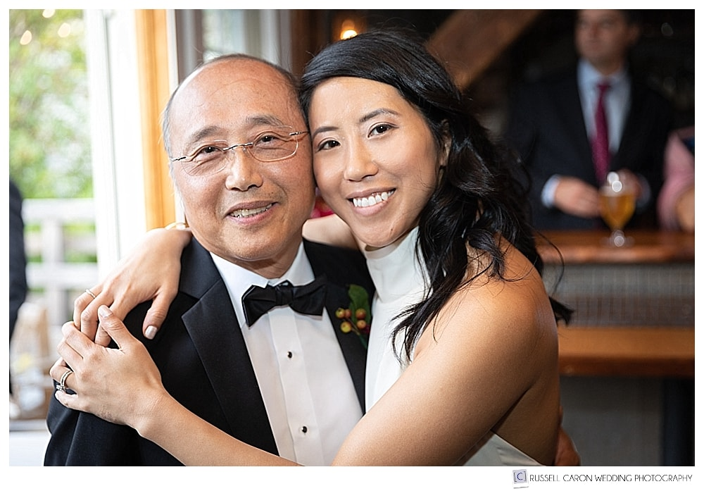photo of bride and her father