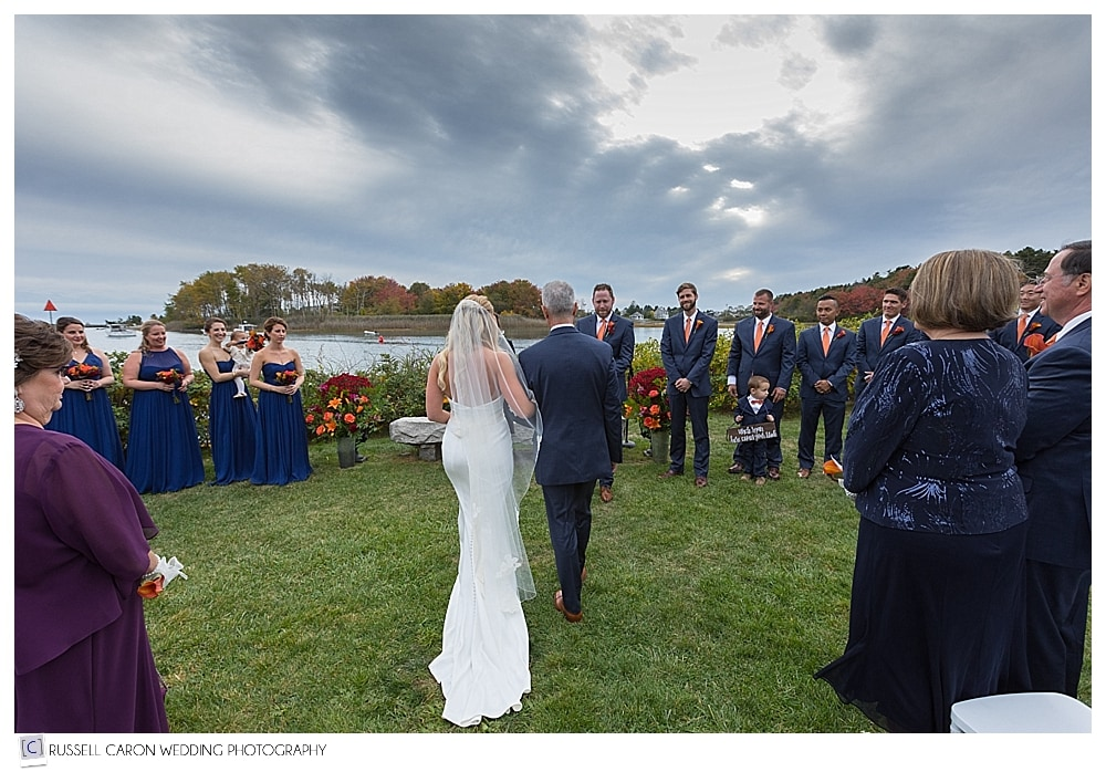 bridal processional at the Nonantum Resort Kennebunkport Maine