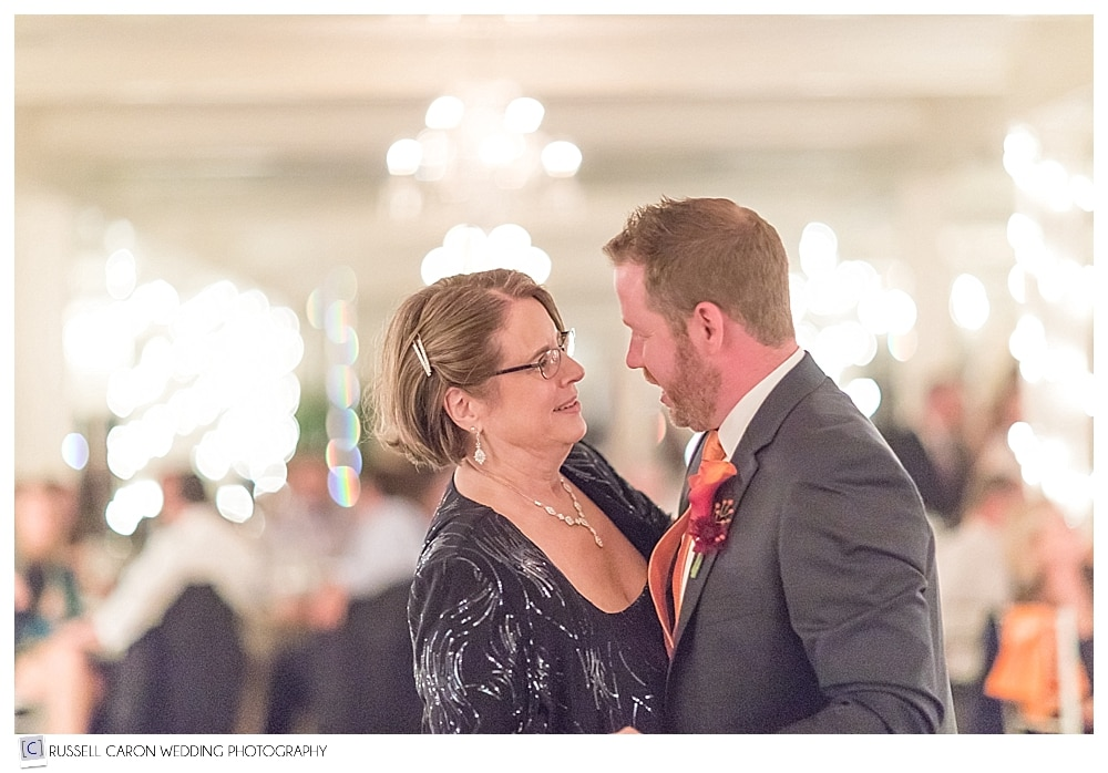 groom and mother during mother son dance