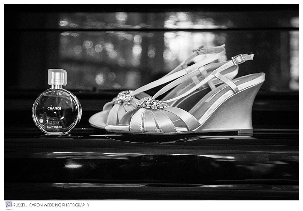 bridal shoe detail photo