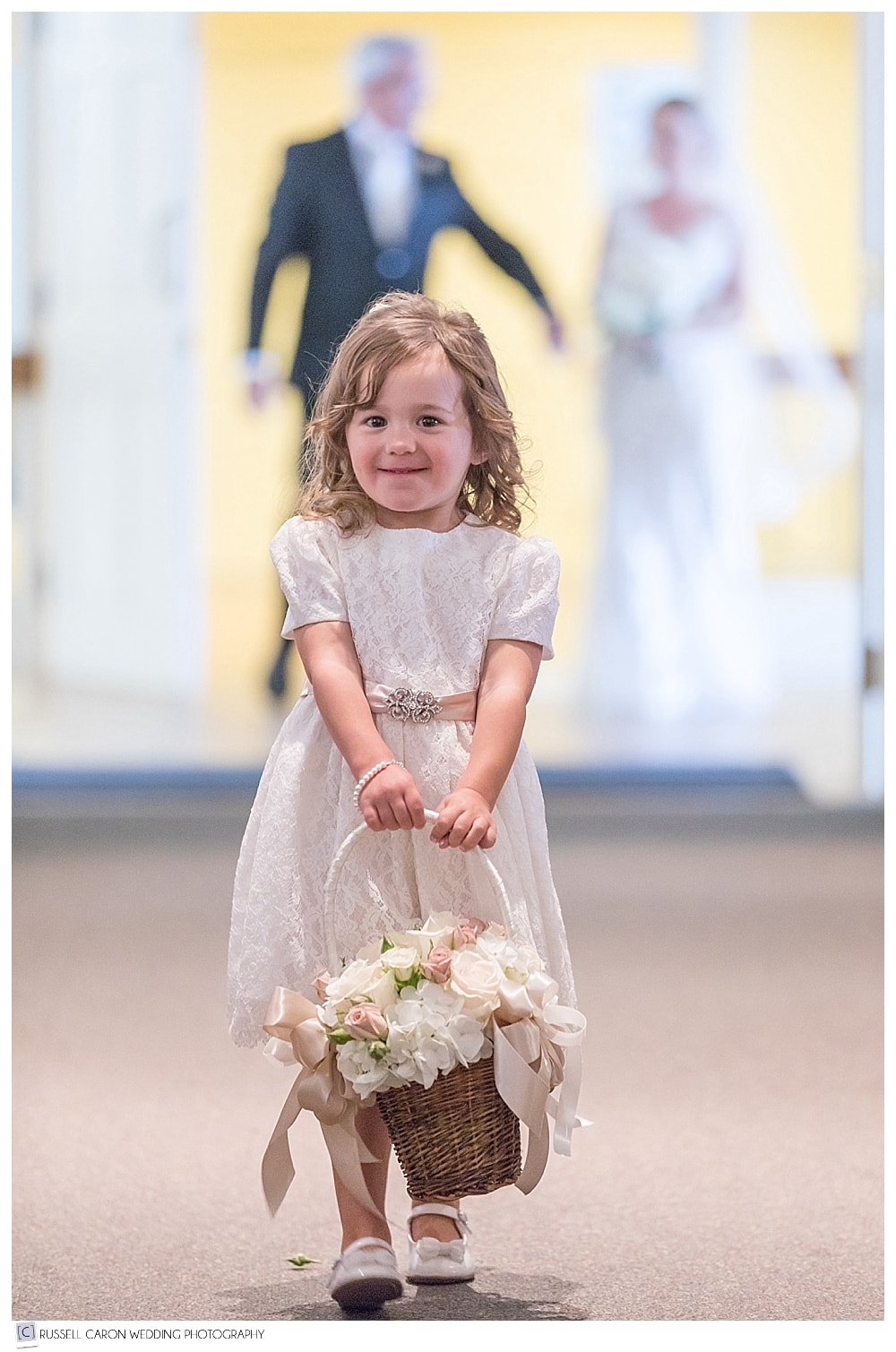flower girl during processional