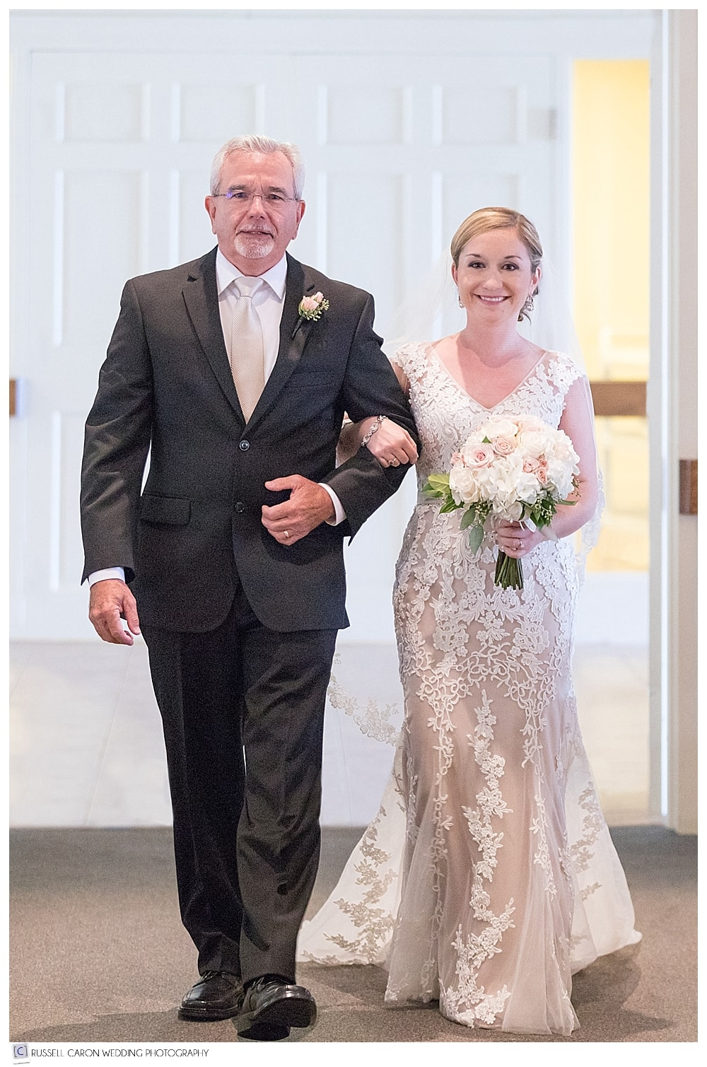 bride and her father during processional
