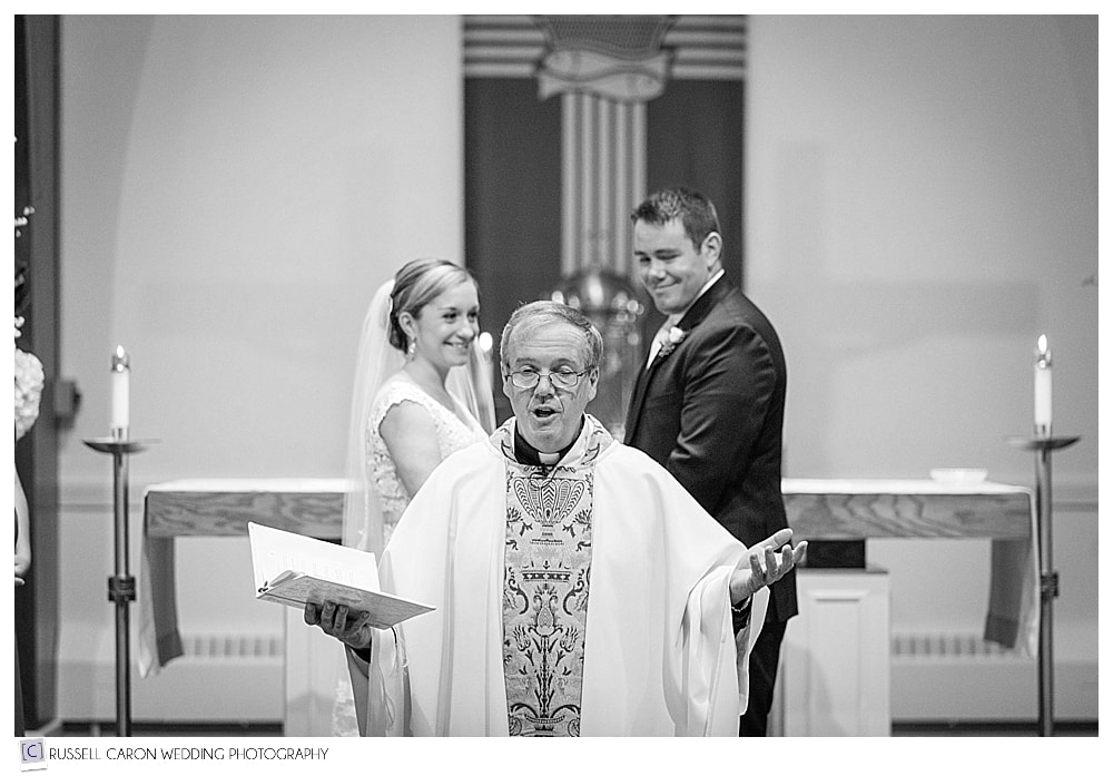 priest during wedding ceremony