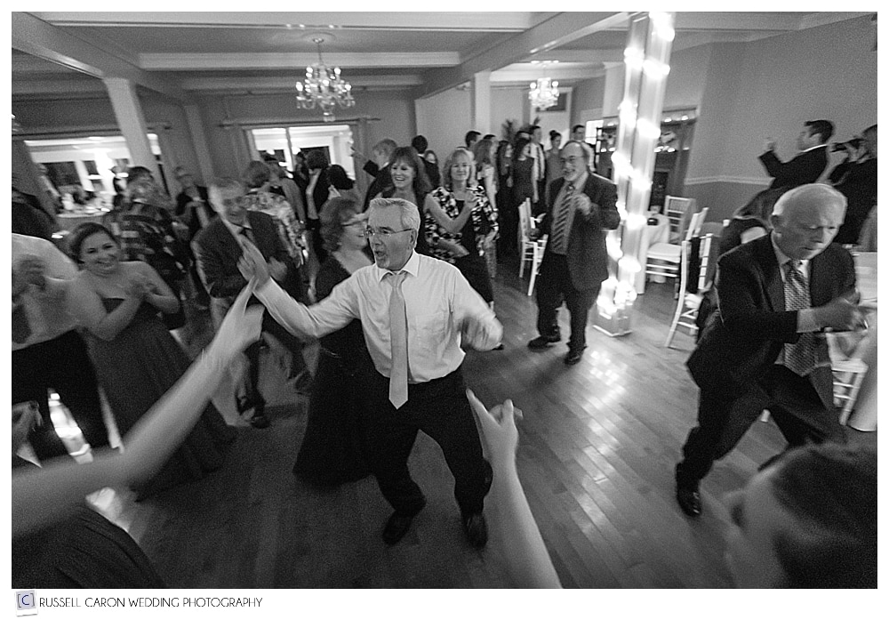 father of the bride dancing at the Nonantum Resort wedding reception