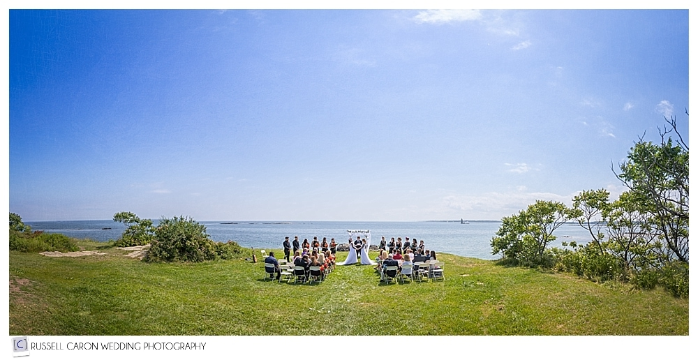 Fort Foster, Kittery Maine wedding ceremony