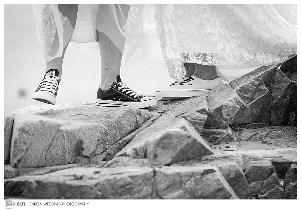 black and white sneakers and wedding dresses