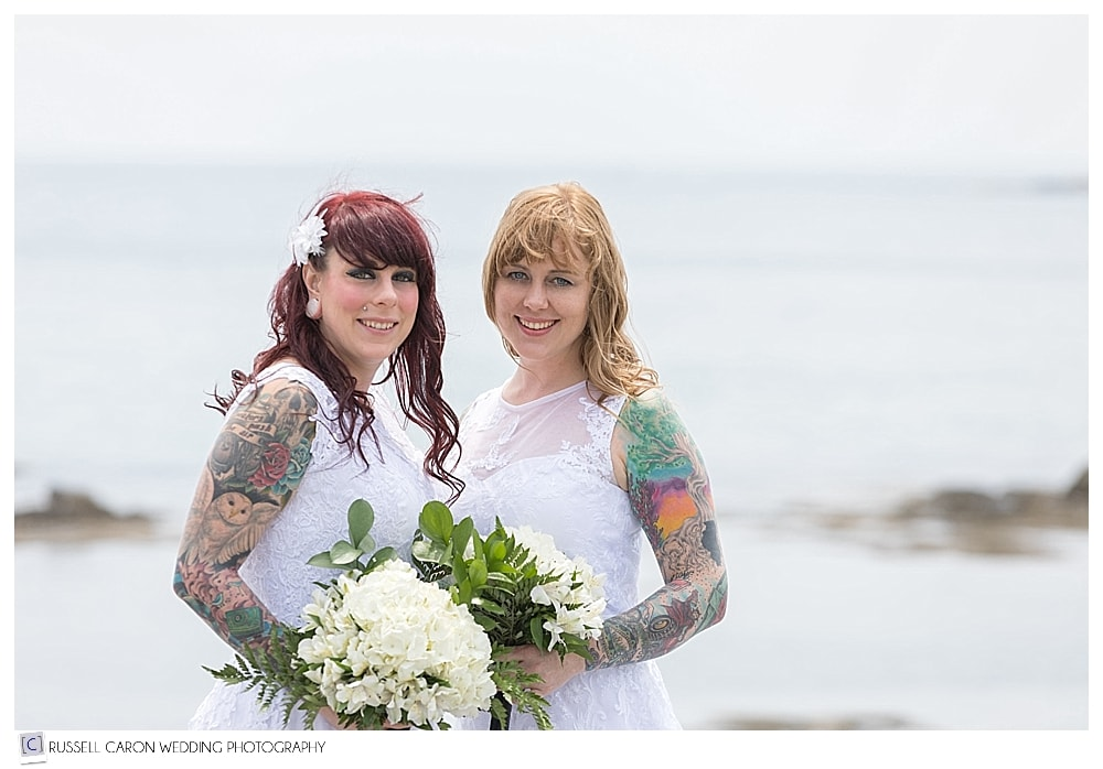 brides with bouquets