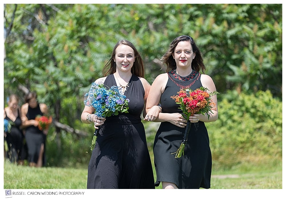 bridesmaids at a Fort Foster wedding
