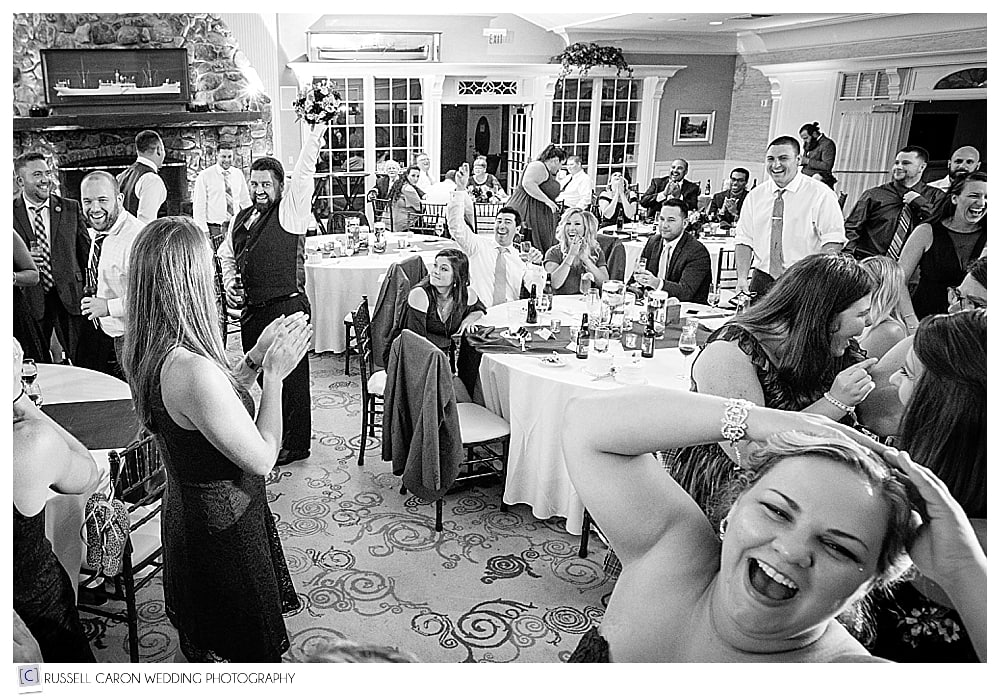man catches the bouquet