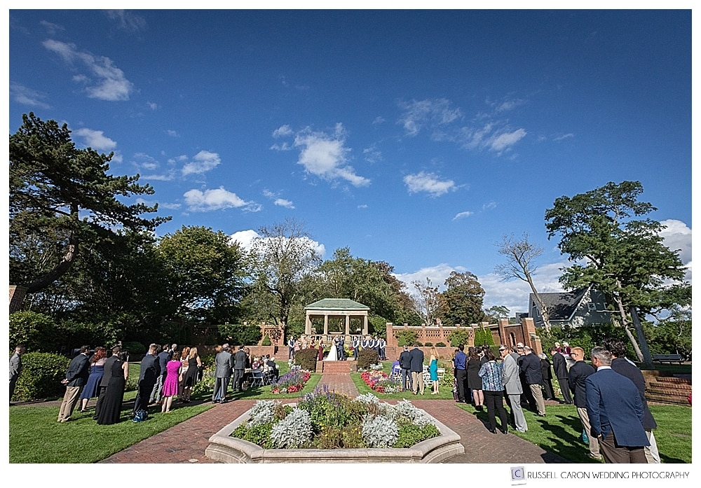 photo of Rose Garden Lynch Park wedding ceremony from the front
