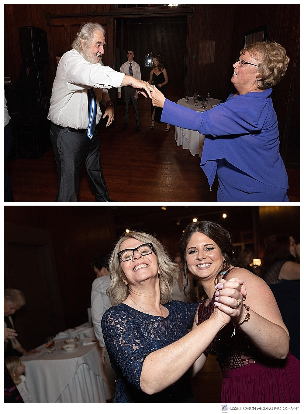 wedding guests dancing at the Lynch Park Carriage House, Beverly, MA
