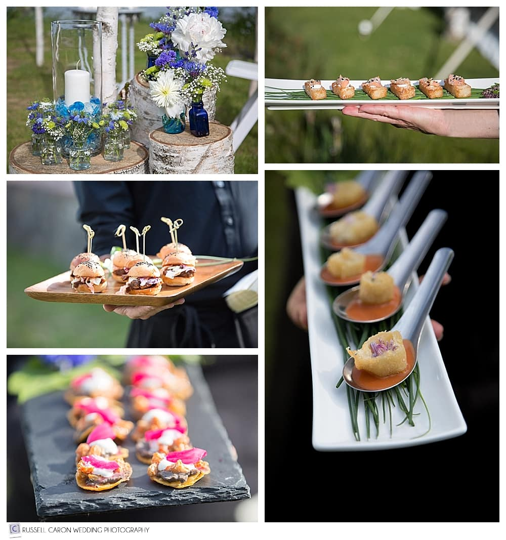 passed-horsd'oeuvres-during-lincolnville-maine-wedding-reception