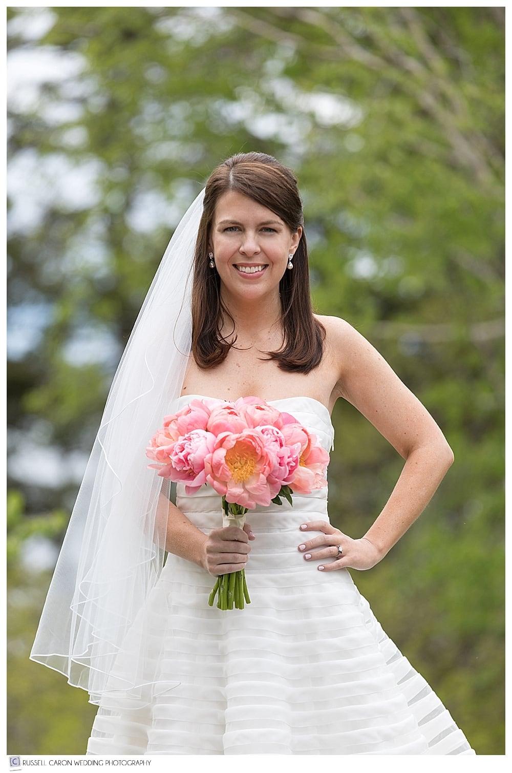 outdoor bridal portrait of Danielle
